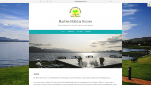 Harties Holiday Homes Website Design
