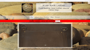 River Rock Leather Website Design