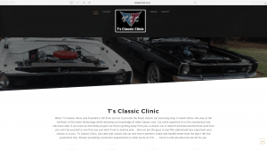T's Classic Clinic Website Design