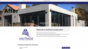 Unitrade Construction Website Design