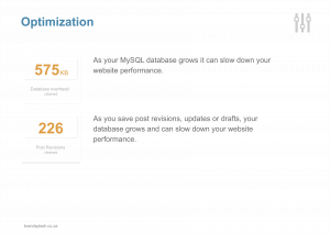 Website maintenance optimisation