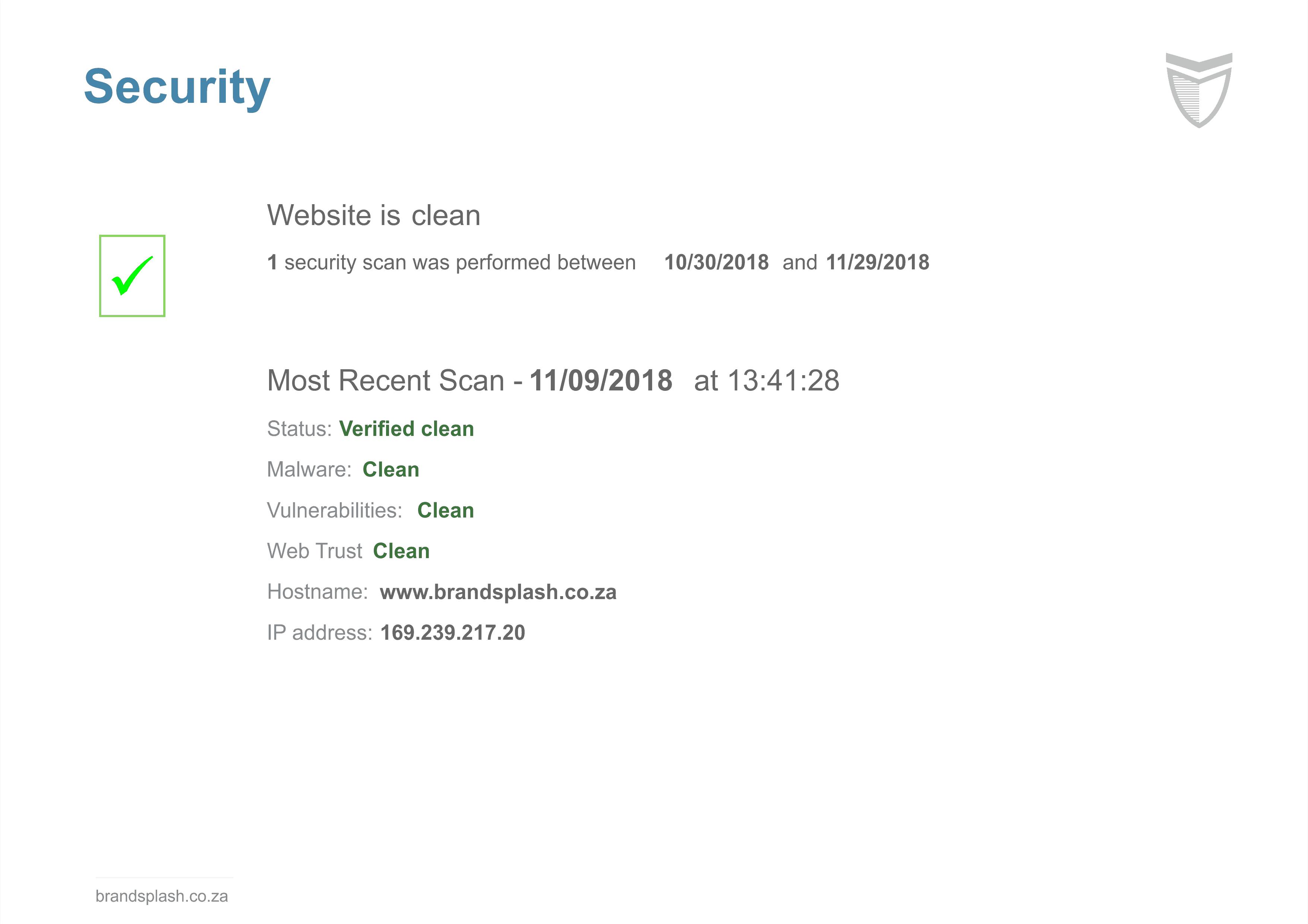 Website security maintenance
