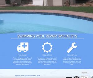 Aquablue Pools Website Design and Development